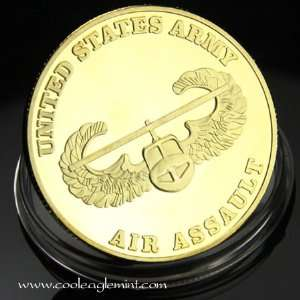 US Army Air Assault Colorized Challenge Coin 491