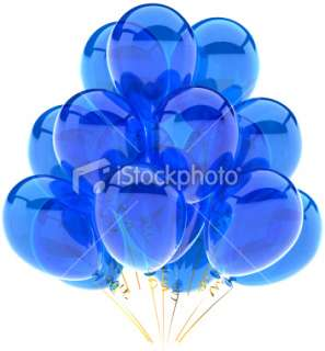Blue balloons birthday party cyan decoration translucent classic